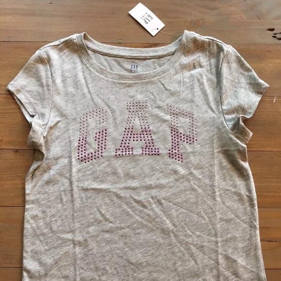 GAP Other - GAP Kids Girl's Rhinestone Logo T-shirt MED NEW